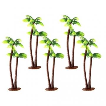 Winomo Bäume, Modell 5 Stück, 13 cm, Kokospalme, Landschaftsbau, Modellbau, Eisenbahnbäume - 2