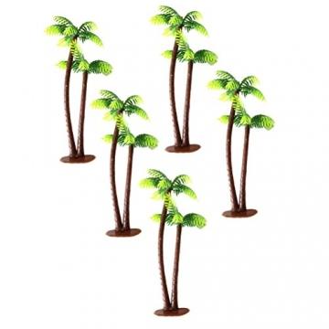 Winomo Bäume, Modell 5 Stück, 13 cm, Kokospalme, Landschaftsbau, Modellbau, Eisenbahnbäume - 3