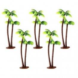 Winomo Bäume, Modell 5 Stück, 13 cm, Kokospalme, Landschaftsbau, Modellbau, Eisenbahnbäume - 1
