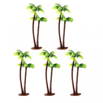 Winomo Bäume, Modell 5 Stück, 13 cm, Kokospalme, Landschaftsbau, Modellbau, Eisenbahnbäume - 5