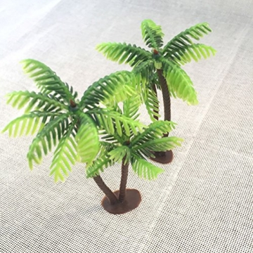 Winomo Bäume, Modell 5 Stück, 13 cm, Kokospalme, Landschaftsbau, Modellbau, Eisenbahnbäume - 6