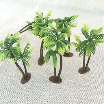 Winomo Bäume, Modell 5 Stück, 13 cm, Kokospalme, Landschaftsbau, Modellbau, Eisenbahnbäume - 7