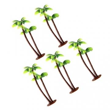 Winomo Bäume, Modell 5 Stück, 13 cm, Kokospalme, Landschaftsbau, Modellbau, Eisenbahnbäume - 9