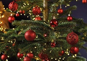 WOMA Christbaumkugeln Set in 14 weihnachtlichen Farben - 50 & 100 Weihnachtskugeln Rot aus Kunststoff - Gold, Silber, Rot & Bronze / Kupfer UVM. - Weihnachtsbaum Deko & Christbaumschmuck - 5