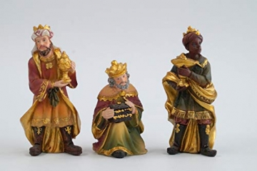 Wunderschöner handbemalter Krippenfigurensatz - 17-teilig - ca 10 cm hoch K604/S - 3