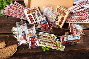 WURSTBARON® - Wurst Geschenk Koffer - mit 24 besondere Salami und Wurst Snacks - Brezen, Herzen, Sterne, Pikanten und vieles mehr - 790 g - 2