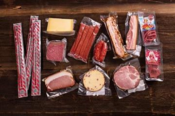 WURSTBARON® Wurst & Käse Geschenk Kiste aus Holz mit Beschlägen, Salami Snacks, Tolle Geschenkidee für jeden Anlass - 2