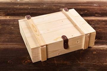 WURSTBARON® Wurst & Käse Geschenk Kiste aus Holz mit Beschlägen, Salami Snacks, Tolle Geschenkidee für jeden Anlass - 3