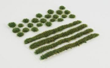 WWS Sommer Selbstklebende Streifen und Büschel Set aus 2mm, 4mm oder 6mm Statische Grasfasern (4mm) - 2