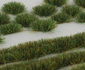 WWS Sommer Selbstklebende Streifen und Büschel Set aus 2mm, 4mm oder 6mm Statische Grasfasern (4mm) - 1