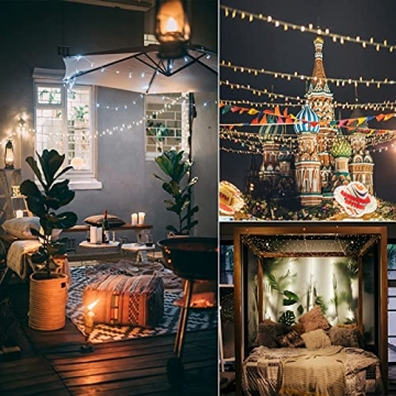Yizhet Lichtervorhang 3x3m LED Lichterkette LED Lichterkettenvorhang mit 8 Modi, 300LEDs, IP65 Wasserdicht Deko für Weihnachten, Partydekoration, Innenbeleuchtung (Warm White) - 8