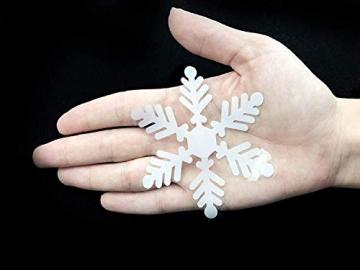 Yuson Girl 108 Stk Schneeflocken Fensterbild Abnehmbare Weihnachten Aufkleber Fenster Weihnachten Deko Wandtattoo Weihnachten Statisch Haftende PVC Aufkleber - 6