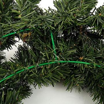 1.8M Tannengirlande Künstlich LED Grüne Weihnachtsgirlande Deko 30LED Weihnachtsgirlande mit Beleuchtung Hängende Girlande Deko für Kamin Treppentür Weihnachten Kamine Treppen Türen Baum Garten Dekor - 7