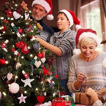 100 Stück Dekoklammern Weihnachten,Klammern Adventskalender,Wäscheklammern Holz Klein Weihnachten,Wäscheklammern aus Holz aus Holz,Weihnachten Klammern Holz Deko Klein,Miniklammern. - 7