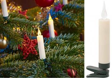 20 LED Weihnachtsbaumkerzen mit simulierter Acryl-Flamme / kabellos / Timer / Flacker-Modus / Weihnachtsbeleuchtung - Weihnachtskerze für Innen - 2