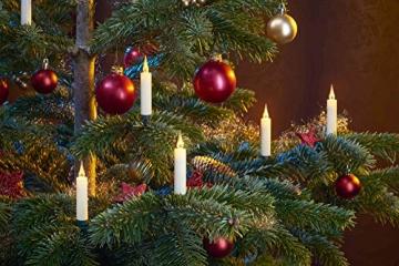 20 LED Weihnachtsbaumkerzen mit simulierter Acryl-Flamme / kabellos / Timer / Flacker-Modus / Weihnachtsbeleuchtung - Weihnachtskerze für Innen - 5