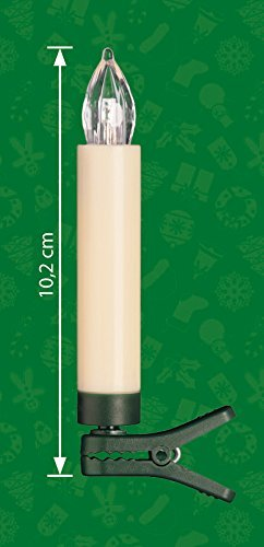 25 kabellose LED Kerzen mit Timerfunktion, Dimmer, flackernde Flamme und Fernbedienung | Innen und Außen | inkl. Batterien | warm-weiß - 2