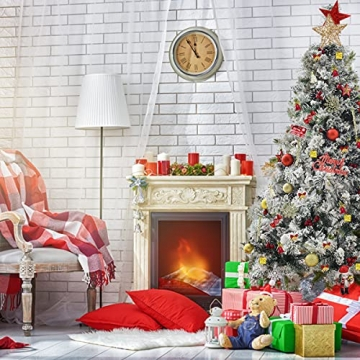 83 Stück Christbaumkugeln Set Weihnachtskugeln aus Kunststoff Baumschmuck Weihnachtsbaum Deko & Christbaumschmuck in unterschiedlichen Größen und Designs Golden und Rot - 5