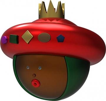 Alessi AMJ13 10- Baldassarre Heilig König Balthazar Weihnachtskugel, Handdekoriertes Geblasenes Glas, Rot - 2