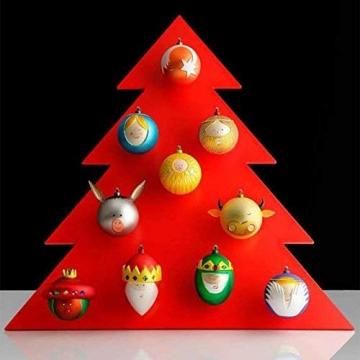 Alessi AMJ13 10- Baldassarre Heilig König Balthazar Weihnachtskugel, Handdekoriertes Geblasenes Glas, Rot - 4