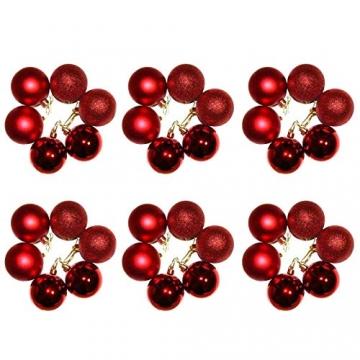 Baunsal GmbH & Co.KG Weihnachtsgirlande Tannengirlande Girlande grün 10 m mit roter Dekoration und Lichterkette mit LEDs und Fernbedienung - 4