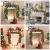 Bcamelys Weihnachtsgirlande mit Beleuchtung Weihnachtsdekoration 270cm Weihnachtsgirlande beleuchtet LED-Schnur beleuchtet Weihnachtstürdekor Weihnachtsgirlande Tannengirlande Lichterkette (Golden) - 3