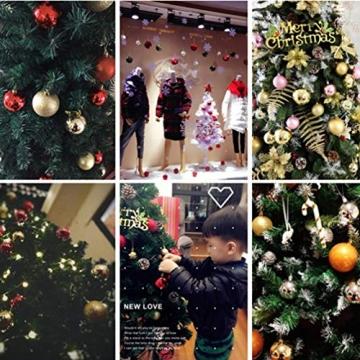 BESPORTBLE 24er Pack Weihnachtskugeln Ornamente Dekoration für Baumhaus Indoor Outdoor Hängekugeln 6cm Rot - 2