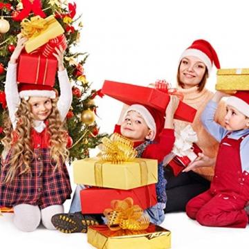 BESPORTBLE 24er Pack Weihnachtskugeln Ornamente Dekoration für Baumhaus Indoor Outdoor Hängekugeln 6cm Rot - 4