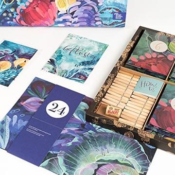Bio-Saatgut-Adventskalender 2021 - Magische Zeit- Das Original von Magic Garden Seeds - Jubiläumsausgabe - befüllt mit 24 Bio-Samentütchen in schönem Design - 2
