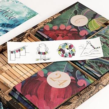 Bio-Saatgut-Adventskalender 2021 - Magische Zeit- Das Original von Magic Garden Seeds - Jubiläumsausgabe - befüllt mit 24 Bio-Samentütchen in schönem Design - 5
