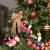 BOSSTER Hölzerner Weihnachtszug 6 stücke Weihnachten Holzeisenbahn Mini Weihnachten Deko mit Seil zum Weihnachten Vitrine Fenster Desktop Dekoration - 3