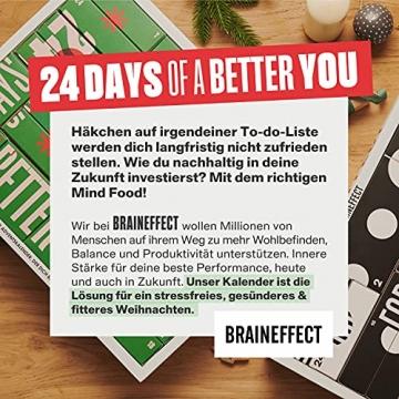 BRAINEFFECT 2-In-1 Adventskalender 2021 - Vegane Mind Food's für Fitness-Liebhaber und Biohacker + Digitales Coaching, Adventskalender Männer, Adventskalender Frauen, Adventkalender für 2021 - 4