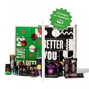 BRAINEFFECT 2-In-1 Adventskalender 2021 - Vegane Mind Food's für Fitness-Liebhaber und Biohacker + Digitales Coaching, Adventskalender Männer, Adventskalender Frauen, Adventkalender für 2021 - 7
