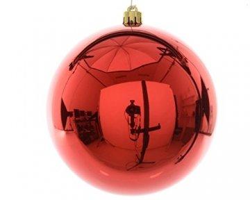 Christbaum-Kugeln rot glänzend 140 mm Durchmesser 1 Stück Kunststoff - 1