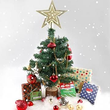 Christbaumkugeln Weihnachtskugeln 74er Set Christbaumschmuck Christbaumkugeln Set Rot und Gold Bruchsichere Weihnachtskugel Ornamente mit Aufhänger Anhänger für Weihnachten Weihnachtsbaum Hängende - 4