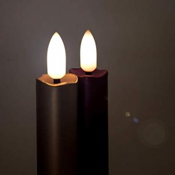DbKW (Blau 10er) NEUHEIT! Echtflamme-LED Christbaumkerzen, Fernbedienung Timer Dimmfunktion Flackerlicht + 12tlg. Kalff Seifenset! Baumkerzen Weihnachtskerzen - 3