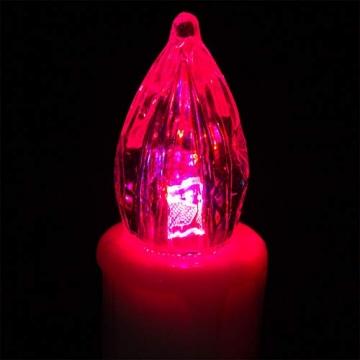 Deuba 30x LED Weihnachtsbaumkerzen kabellos bunt Fernbedienung Timer batteriebetrieben Weihnachtskerzen Christbaumkerzen - 7
