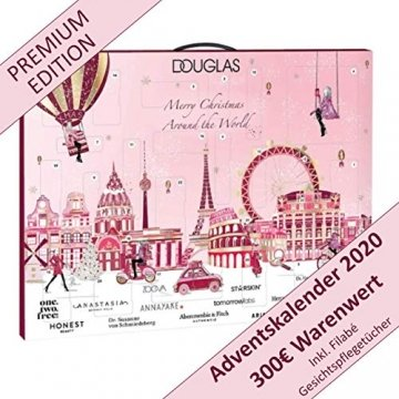 DOUGLAS Adventskalender 2021 Beauty -Premium EDITION- Frauen + Mädchen Kosmetik Advent Kalender , 24 Kosmetik Geschenke Wert 300 €, Pflege Frau, Adventkalender Damen - 1