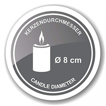 EDZARD Adventskranz Milano, Edelstahl vernickelt silberfarben, Durchmesser 34 cm, für Kerzen ø 8 cm, moderner Kerzenhalter, Perfekt für Cornelius Kerzen, individuell dekorieren - 8