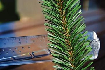 Geodezja Lublin Dekorative Weihnachtsgirlande künstliche Tannengirlande Weihnachtsdeko Kunstgirlande einsetzbar im Innen- und Außenbereich in Grün (9m) - 7