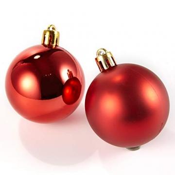 HEITMANN DECO 30er Set Christbaumkugeln Sortiment- Weihnachtsschmuck rot Gold zum Aufhängen - Kunststoffkugel Sortiment - 6