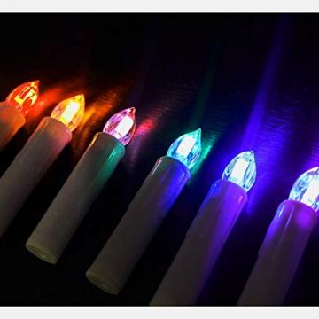 HENGMEI 30er LED Kerzen Weihnachtskerzen kabellos mit Fernbedienung und Batterie Christbaumkerzen Christbaumbeleuchtung RGB Flammenlose Weihnachtsbeleuchtung für Weihnachtsbaum, Hochzeit, Partys - 5