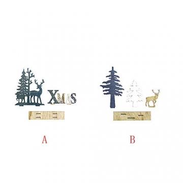 HROIJSL Weihnachten Deko Hölzerne Elchweihnachts Dekoration Weihnachten Weihnachtsmann aus Holz Elch Schneemann Festival Ornament Home Decor - 4