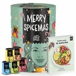 Just Spices Gewürz Adventskalender 2021 I Weihnachtskalender mit 24 Gewürzmischungen + brandneues Kochbuch I Hochwertige Gewürze als Geschenk für Männer und Frauen I insgesamt 4,5 kg - 1