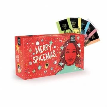 Just Spices Kleiner Gewürz Adventskalender 2021 I Weihnachtskalender mit 24 Gewürzmischungen + Rezepten I Hochwertige Gewürze als Geschenk für Männer und Frauen (2021) (2021) - 1