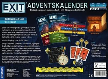 KOSMOS 681951 EXIT - Adventskalender 2021, Die Jagd nach dem goldenen Buch, mit 24 spannenden Rätseln ab 10 Jahre, Escape Room Spiel vor Weihnachten, für Kinder Jugendliche und Erwachsene - 2