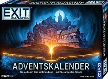 KOSMOS 681951 EXIT - Adventskalender 2021, Die Jagd nach dem goldenen Buch, mit 24 spannenden Rätseln ab 10 Jahre, Escape Room Spiel vor Weihnachten, für Kinder Jugendliche und Erwachsene - 1
