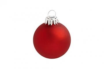 KREBS & SOHN 12er Set Glas Christbaumkugeln Heitmann Deco - Weihnachtsbaum Deko zum Aufhängen - Weihnachtskugeln 8 cm - Rot Sterne - 6