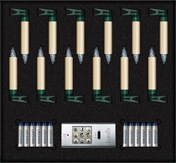 Krinner Lumix Krinner LUMIIX Superlight Mini kabellose Power LED Christbaumkerzen 12er Basis-Set (Outdoor IP44) ABS Kunststoff 1.5 x 1.5 x 9 cm LUMIX SuperLight Mini Elfenbein - 3