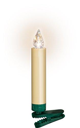 Krinner Lumix Krinner LUMIIX Superlight Mini kabellose Power LED Christbaumkerzen 12er Basis-Set (Outdoor IP44) ABS Kunststoff 1.5 x 1.5 x 9 cm LUMIX SuperLight Mini Elfenbein - 6